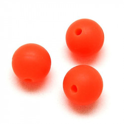 10 Perle 10mm Silicone Couleur Orange MC0110021